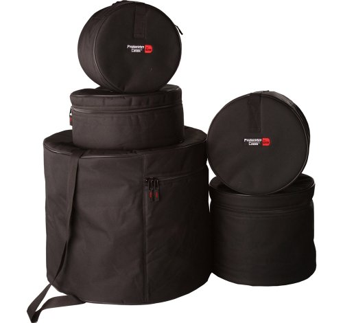 Gator Cases Protechtor Series 5 piece Padded Drum Bag Set For Fusion Kits; 22' Kick, 10' Tom, 12' Tom, 14' Tom, 14' Snare (GP-FUSION-100)