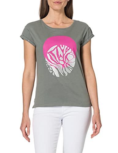 Street One 316252 T-Shirt, Verde Shadow, 44 Donna