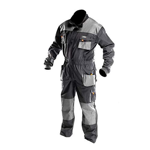 NEO TOOLS Arbeitsoverall | Größe S | Grau | Arbeitsjacke | Latzhose | Arbeitskleidung | EN ISO 13688:2013
