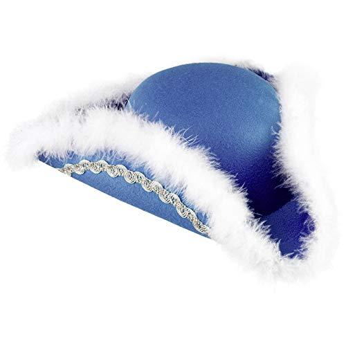 WOOOOZY Hut Funkenhut mit Silberborte, blau, KW 54/53