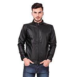 Leather Retail Classy Look Plain Faux Leather Jacket