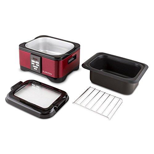 Klarstein Tastemaker Sous-vide Garer + FoodLocker Vakuumierer + Vakuumierfolien-Rolle Slim Set (6 Liter, 550 Watt Garer, 130 Watt Vakuumierer, -075 bar, 6 Meter Folienschlauch) silber - 5