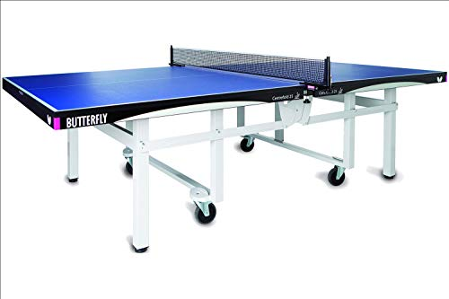 Butterfly Centrefold 25 Ping Pong Table—Indoor Rollaway Game Table—ITTF Approved Table Tennis Table for Tournaments, Clubs, Homes, Institutions—Professional Ping Pong Net Included—No Assembly