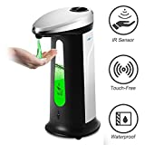 DokFin Automatic Soap Dispenser, 400ML Touchless Battery Operated Electric Liquid Dish Soap Dispenser
