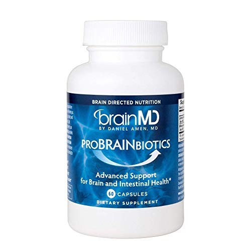 Dr. Amen brainMD ProBRAINbiotics - 3 Billion CFU, 60 Capsules - Promotes Gut Health, Positive Mood & Healthy Stress Response, Digestive Aid - Gluten-Free - 60 Servings