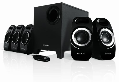 Creative Inspire Surround Speaker System with Wired Remote Control for...