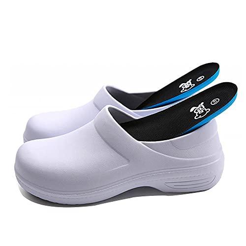 [テノシ] 厨房 調理 作業靴 耐滑 防滑 コックシューズ 業務用 厨房靴 調理靴 厨房シューズ 超耐滑作業靴 食品加工用靴 油 水 滑りにくい 25.5cm ホワイト 白42