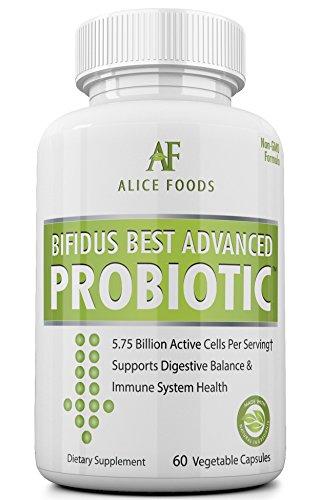 Fast Natural Bloating Relief - Bifidus Best Advanced Probiotic 60 Day + Kombucha Guide - Premium Probiotics for Men and Women - for Intestinal Problems, Bloating, Diarrhea, Gas, Bladder, UTI