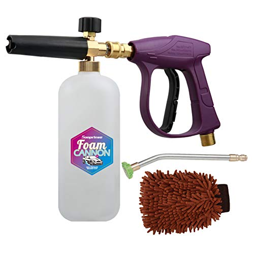 Product Image of the Sooprinse Foam Cannon Snow Foam Lance Nozzle Pressure Washer Jet Wash,Foam Cannon Lance kit with Pressure Washer Spray Gun,30 Degree Gutter Cleaner Wand with Nozzle Tip Attachment