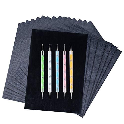 200 Sheets Carbon Paper Black Graphite Paper...