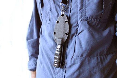 Hobbit - Outdoor Camping Nackenmesser Überlebensmesser Survival Bushcraft Messer Neck Knife - Stahl MOVA-58 -Scheide