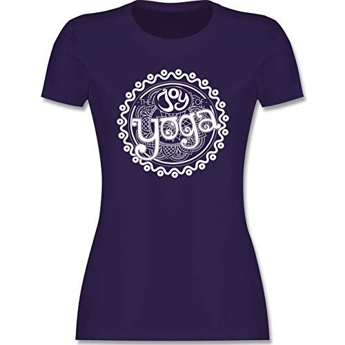 Wellness, Yoga & Co. - The Joy of Yoga - S - Lila - Typo-Grafie - L191 - Tailliertes Tshirt für Damen und Frauen T-Shirt