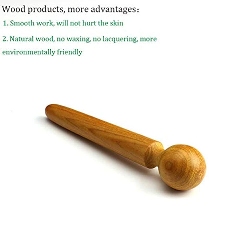 評論家回復エントリDC 木製マッサージャー 木製フットポイントスティック 鍼治療ポイントロッドSPAボディフットマッサージツール 疲労緩和