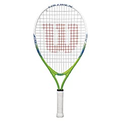 The US Open Junior Tennis Racket is extremely lightweight and easy to swing. It's the perfect choice for players beginning to learn to play tennis. Aluminum RACquet Approved for tennis players 10 and under ages : youth 7 to 8 Strung racquet without a...