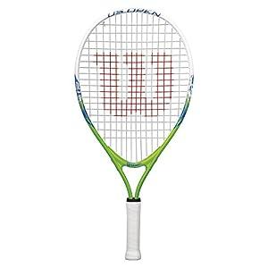 "Wilson Youth US Open Recreational Tennis Racket - Green/Yellow, 21"""