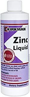 Kirkman Zinc Liquid - New Formulation || 16 oz || Flavored with Natural Raspberry || Free of Common allergens