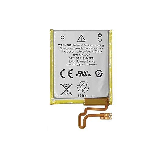 Onlyguo 3.7V 220MAH 616-0639 616-0640 Ersatzakku für Apple iPod Nano 5.16G iPod Nano 7 iPod Nano 7. A1446
