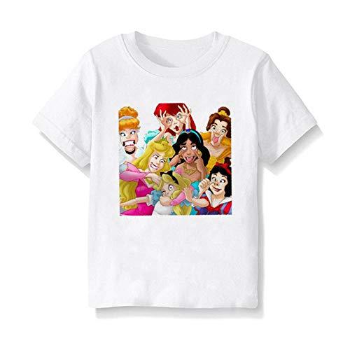 Enfants Filles Garçons Été Casual Manches Courtes Cartoon Princesse Imprimé Enfants Vêtements Tops Enfants Bébé T-shirt - - 2-3 ans