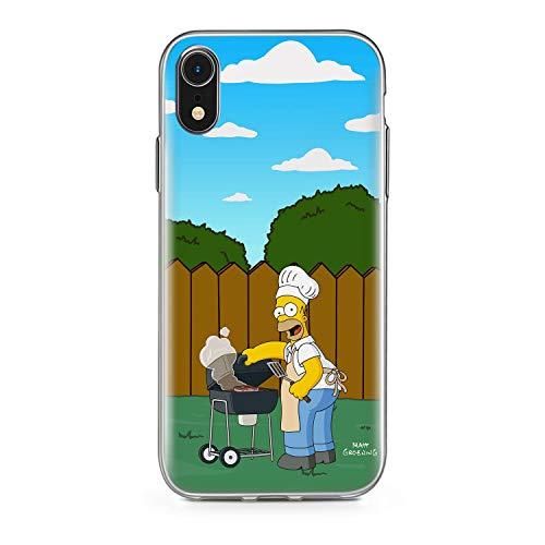 Finoo Handyhülle kompatibel für iPhone XR - Hülle mit Motiv und Optimalen Schutz TPU Silikon Tasche Case Cover Schutzhülle - Homer Grill Garten