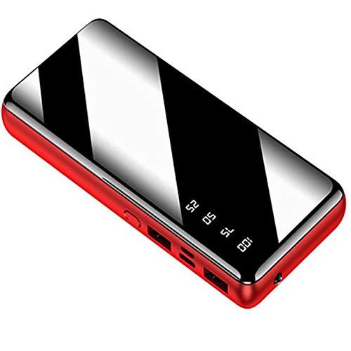Batería Externa Alta Capacidad Power Bank Cargador Portátil Carga Rápida con Pantalla LCD Y Luces LED Y 2 Outputs para Teléfonos Inteligentes, Tabletas Y Otros Dispositivos,20000mAh