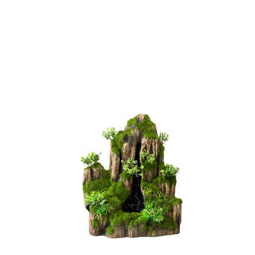 Aqua Della Aquariumdekoration Wayterfall Moss Rock, S, 1 Way