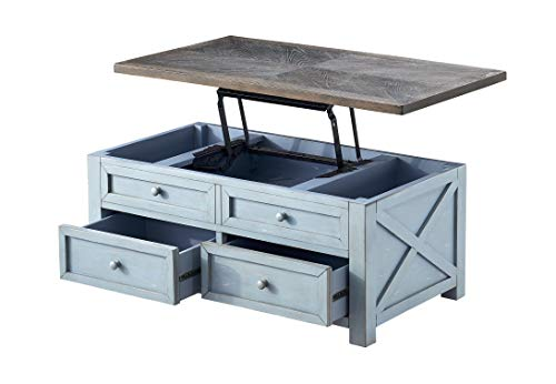 Treasure Trove Accents Cocktail lift top coffee table, medium, blue