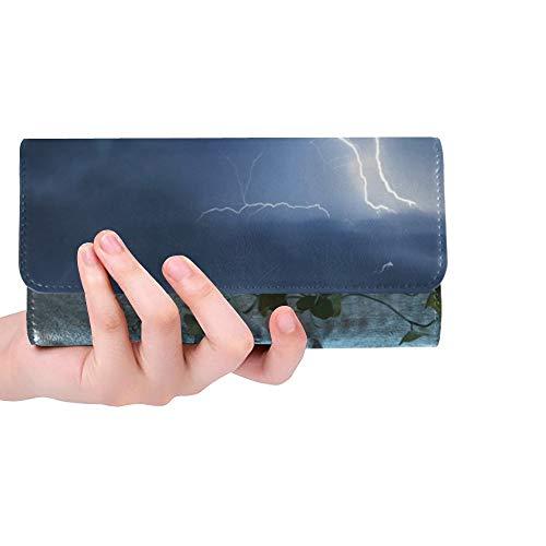 Único Personalizado 3 D CG Jack O Lantern Mujeres Trifold Monedero Monedero Largo Titular de la Tarjeta de Crédito Caso Bolso
