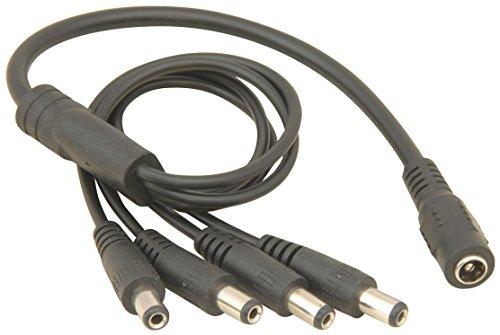 JnDee™ 4-Wege-DC-Splitterkabel, Klinkenstecker für Überwachungskamera, für 3-V-/ 6-V- / 9-V-/ 12-V- und 24-V-Stromversorgung, 1x Buchse zu 4x Stecker