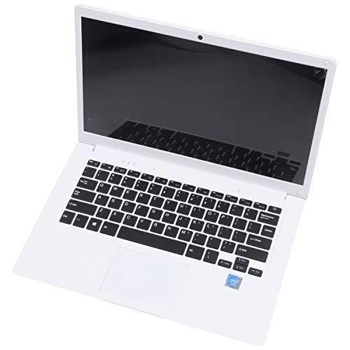 Haudang 14,1 pollici Hd leggero e ultra-sottile 2+32G Lapbook Laptop Z8350 64-Bit Quad Core 1.92 Ghz 10 2Mp Camera (bianco) spina UK