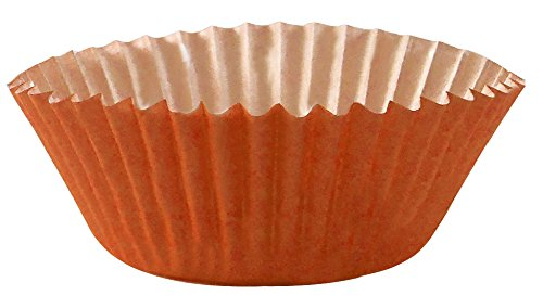 Arant Orange Mini Cupcake Liners. Colorful Paper, Ideal for Holidays and Parties, 100 Pack.