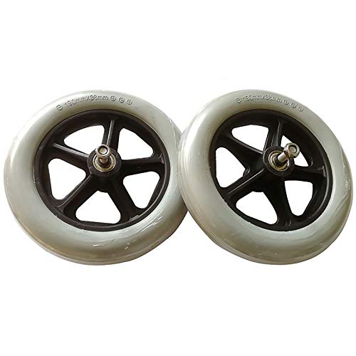 Front Wheelchair Wheels, 8inch Solid Caster Replacement Accessories Complete With Bearing, Gray