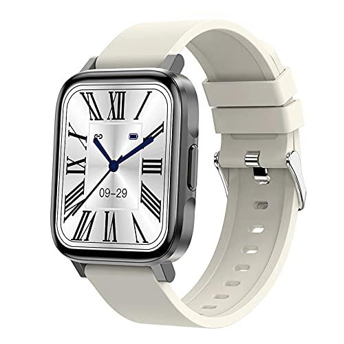 ZGZYL Reloj Inteligente F60 con Temperatura/Presión Arterial/Ritmo Cardíaco/De Monitoreo De Oxígeno De Sangre Actividad Tracker Step Countor Waterproof Fitness Watch,A