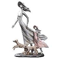 STBAAS 手工芸品の装飾、彫刻の近代的な装飾像の装飾品、樹脂の抽象的なカップル彫刻の装飾品家のリビングルームワインキャビネットデスクトップ像