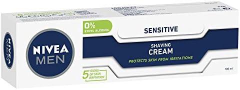 NIVEA MEN Sensitive Shaving Cream (100ml), Sensitive Shave Cream for Men with Chamomile and Vitamin E.