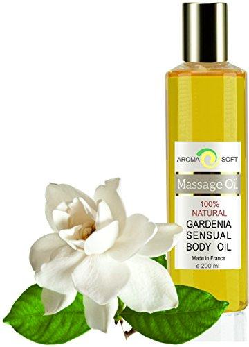 Aceite de Masaje Flor de Gardenia 100% Natural - Relajación y Después del baño 200 ml - made in France