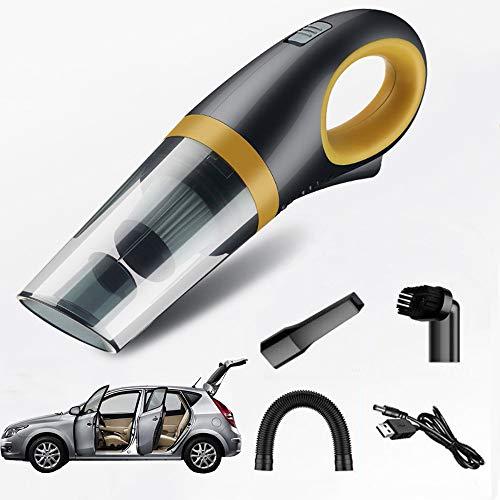 LMXQQ Aspiradora De Mano, Filtro HEPA Lavable, Funcionamiento De Graves, Motor De Alta Potencia De 120 W, Gran Potencia De Succión De 6000 Pa, Doble Uso para El Hogar Y El Automóvil(Color:B)