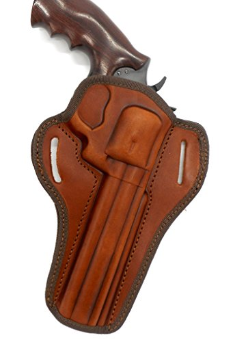 HOLSTERMART USA CEBECI ARMS Brown Leather Open Top Right Hand Belt Holster for Ruger GP100 Revolver, 6' Barrel