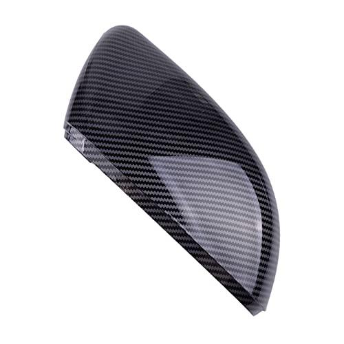 ZHUHUI YUYANGZHI Plástico Black Fibra de Carbono Estilo Derecho Dright Door Door Cuber Cap Fit for VW Golf GTI MK6 2010 2011 2012 2012 2013 2013 Espejos para retrovisor