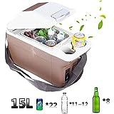 POIUYT Mini-Kühlschrank Schwarz Tischkühlschrank Niedriger Energieverbrauch A+15L Frischhalten+Heizen Für Autos Lastwagen Familien Campingreisen Usw