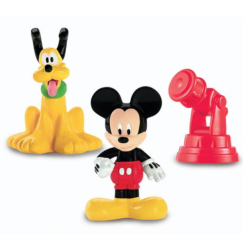 Fisher-Price - X4056 - Pack Figurines - Classique Mickey & Pluto avec Télescope