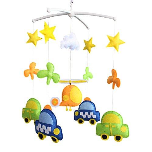 Nouveau-né musical suspendu jouet crèche bébé mobile lit bébé pour 0-2 ans, MR22