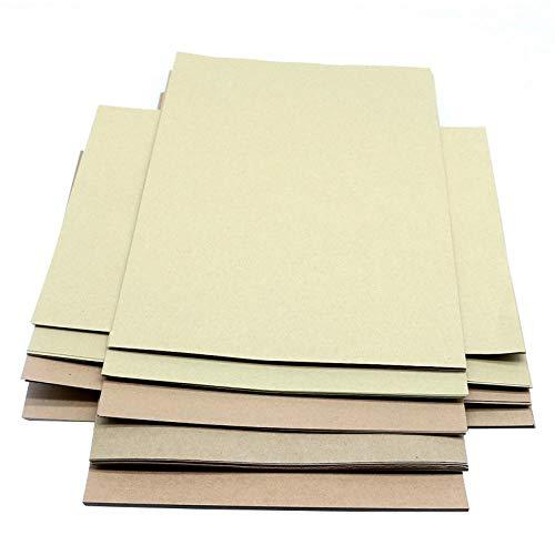 Papel origami 50pcs Raw Papel Kraft DIY Origami cubierta de cartón de embalaje de impresión regalos Álbum de recortes de papel de dibujo material de decoración-400 gsm Papir oflexia ( Color : 80 gsm )