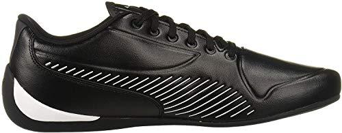 PUMA Men's Ferrari Drift CAT 7S Ultra Sneaker, Black White, 10 M US