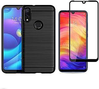 Capa Case Preta Película Nano Gel 5D para Xiaomi Redmi Note 7 / Note 7 Pro