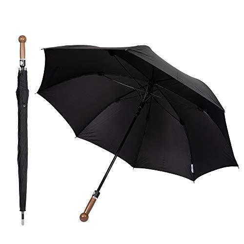 Sicherheitsschirm Paraguas de defensa de defensa (mango de nogal, 92 cm)