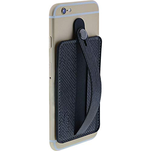InLine 55265 Smartphone Kreditkartenetui, Finger Halterung, selbstklebender Handygriff, Smartphonehalter, Selfie Handyhalter, dunkelgrau