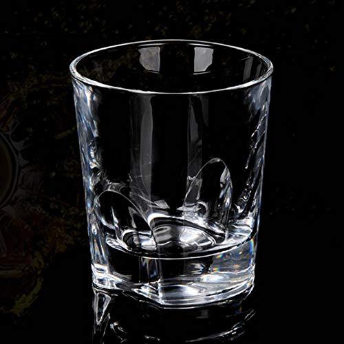 1 vaso de cristal de whisky sin plomo (250 ml) atractivo juego de regalo apto para lavavajillas, perfecto para bebidas alcohólicas, bourbon o whisky base pesada y diseño único.