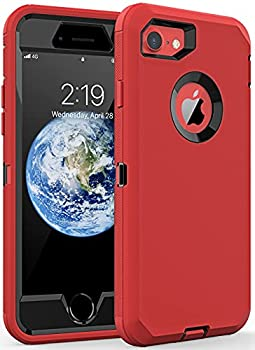 Comboproof Compatible with iPhone 8 case/iPhone 7 case,Shockproof case for iPhone 8/7 4.7 in   Red