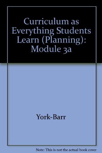 Curriculum as Everything Students Learn (Planning): Module 3a