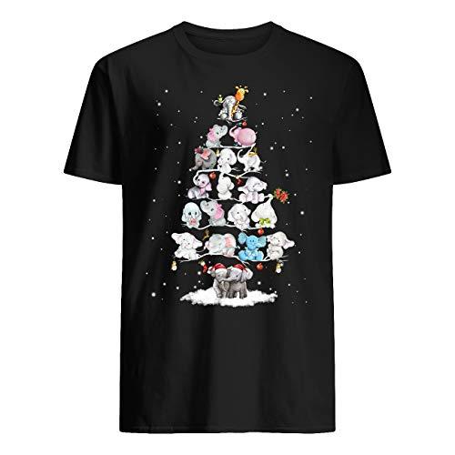 Vinsaco Eelefante Decoración Árbol de Navidad 7 niveles Camiseta